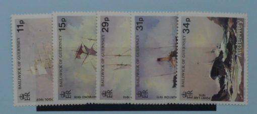 Alderney Stamps, 1987, SGA32-A36, Mint 5