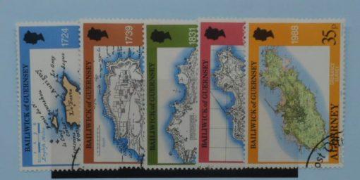 Alderney Stamps, 1989, SG A37-A41, Used 3