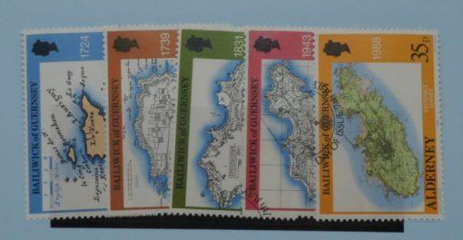 Alderney Stamps, 1989, SGA37-A41, Used. 3