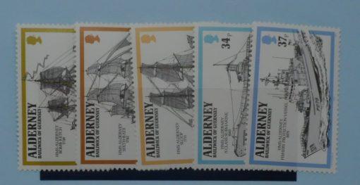 Alderney Stamps, 1990, SGA42-A46, Mint 5