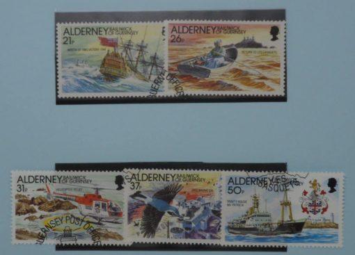 Alderney Stamps, 1991, SG A47-A51, Used 5
