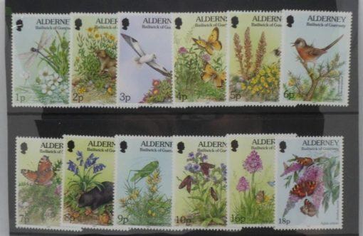 Alderney Stamps, 1994-98, SGA60-A70b, Mint 5