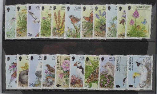 Alderney Stamps, 1994-98, SGA60-A77, Mint 5