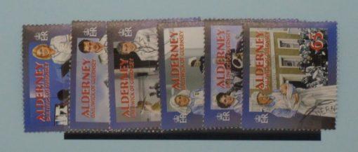 Alderney Stamps, 2001, SG A163-A168, Used 5