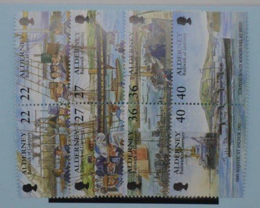 Alderney Stamps, 2001, SGA176a, A178a, A180a, A182a, Mint 5