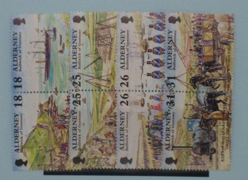 Alderney Stamps, 1997, SGA102a, SGA104a, SGA106a, SGA108a, Used 3