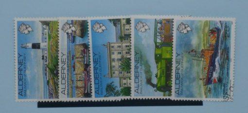Alderney Stamps, 1983, SGA12a-SGA12e, Used 5