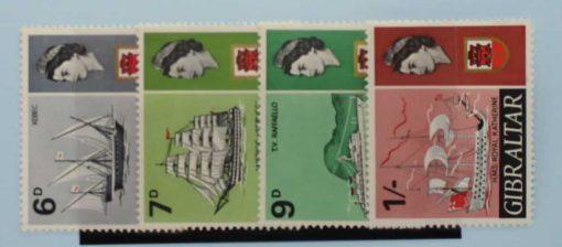 Gibraltar Stamps, 1967-69, SG206-209, Mint 5