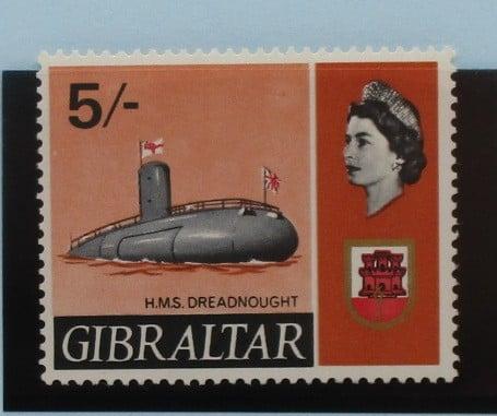Gibraltar Stamps, 1967-69, SG211, Mint 5