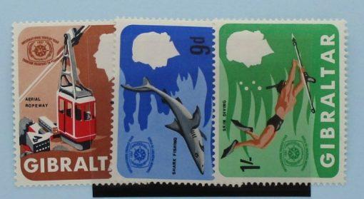 Gibraltar Stamps, 1967, SG214-216, Mint 5