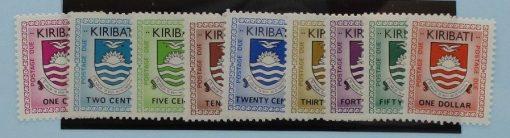 Kiribati Stamps, 1981, D1-D9, Mint 3