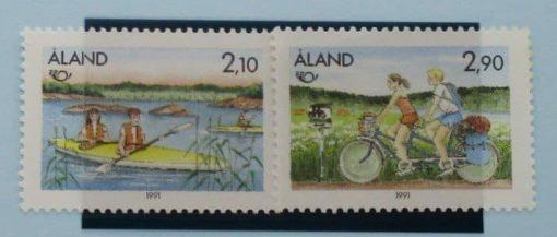 Aland Islands Stamps, 1991, SG50-51, Mint 5