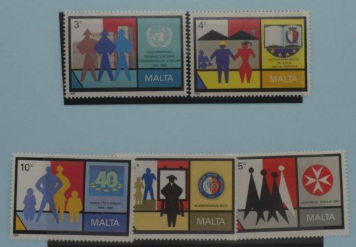 Malta Stamps, 1989, SG855-859, Mint 5