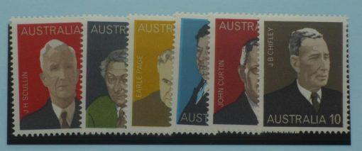Australia Stamps, 1975, SG590-595, Mint 5
