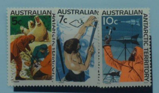 Australian Antarctic Territory Stamps, 1966-68, SG11-13, Mint 3