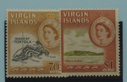 British Virgin Islands Stamps, 1964-68, SG189-190, Mint 5