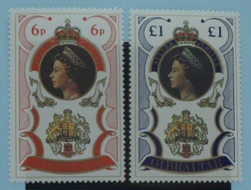 Gibraltar Stamps, 1977, SG371-372, Mint 5