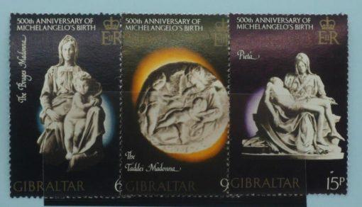 Gibraltar Stamps, 1975, SG355-357, Mint 5