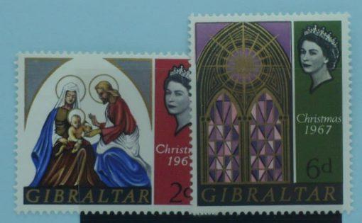 Gibraltar Stamps, 1967, SG217-218, Mint 5