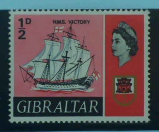 Gibraltar Stamps, 1967-69, SG200b, Mint 5