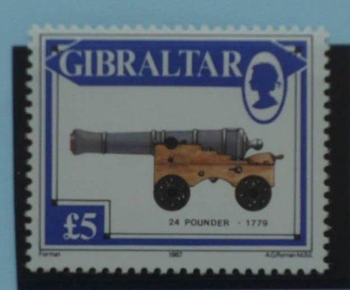 Gibraltar Stamps, 1987, SG581, Mint 5