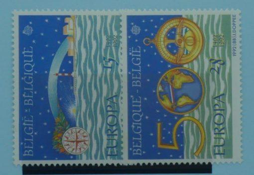 Belgium Stamps, 1992, SG3127-3128, Mint 5