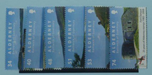 Alderney Stamps, 2008, SGA342-A347, Mint 5