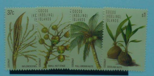 Cocos (Keeling) Islands Stamps, 1988, SG180-183, Mint 5