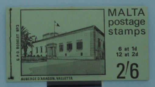 Malta Stamps, 1971, SB3, Mint 6