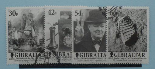 Gibraltar Stamps, 2001, SG978-981, Used 5