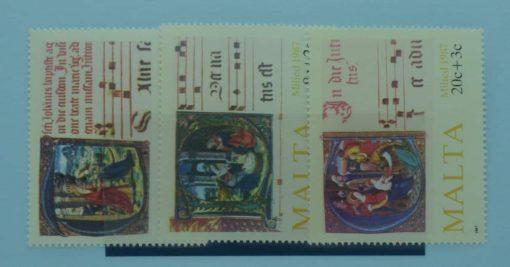 Malta Stamps, 1987, SG813-815, Mint 3