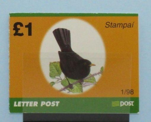 Ireland Stamps, 1998, SB65, Mint 5