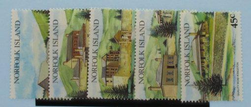Norfolk Islands Stamps, 1993, SG541-545, Mint 5
