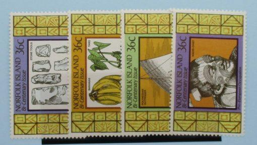 Norfolk Islands Stamps, 1986, SG401-404, Mint 5