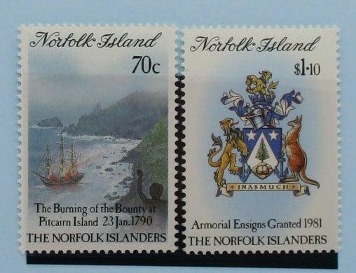Norfolk Islands Stamps, 1990, SG477-478, Mint 5