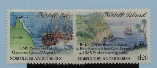 Norfolk Islands Stamps, 1991, SG516-517, Mint 5