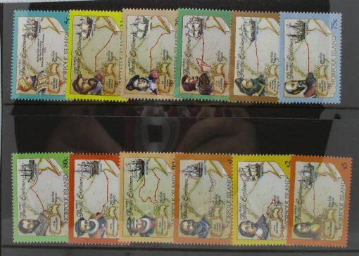 Norfolk Islands Stamps, 1994, SG562-573, Mint 5
