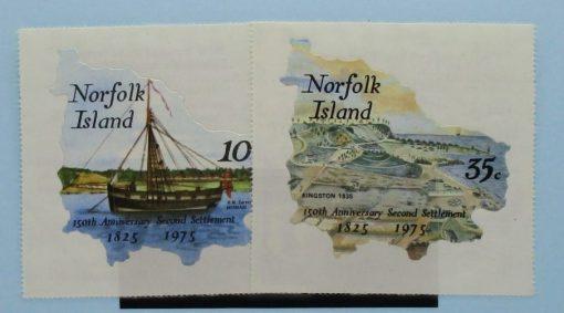 Norfolk Islands Stamps, 1975, SG163-164, Mint 5