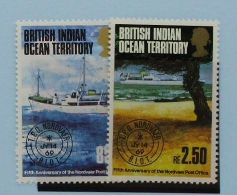 British Indian Ocean Territory Stamps, 1974, SG56-57, Mint 5
