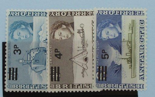 British Antarctic Territory Stamps, 1971, SG29-31, Mint 5