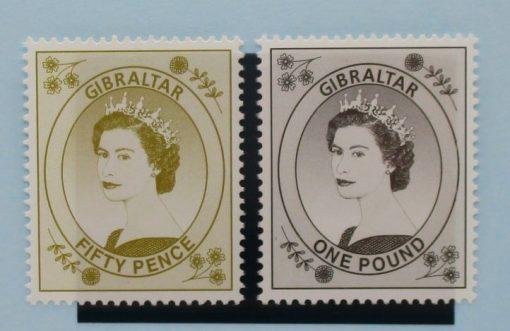 Gibraltar Stamps, 1999-2001, SG868-869, Mint 5
