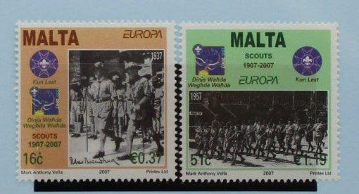 Malta Stamps, 2007, SG1541-1542, Mint 5