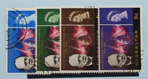Gibraltar Stamps, 1966, SG184-187, Used 5