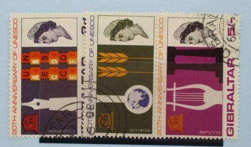 Gibraltar Stamps, 1966, SG196-198, Used 5
