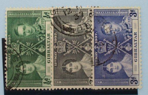 Gibraltar Stamps, 1937, SG118-120, Used 5