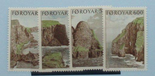 Faroe Islands Stamps, 1989, SG185-188, Mint 5