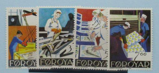 Faroe Islands Stamps, 1990, SG189-192, Mint 5