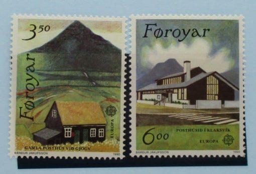 Faroe Islands Stamps, 1990, SG193-194, Mint 5