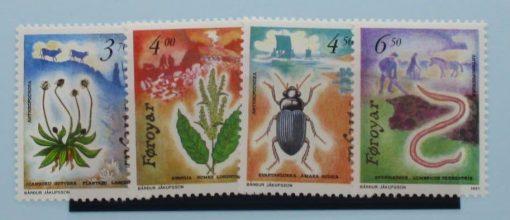 Faroe Islands Stamps, 1991, SG204-207, Mint 5
