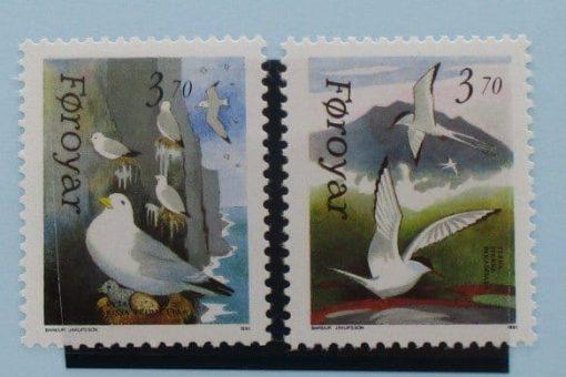 Faroe Islands Stamps, 1991, SG212-213, Mint 5